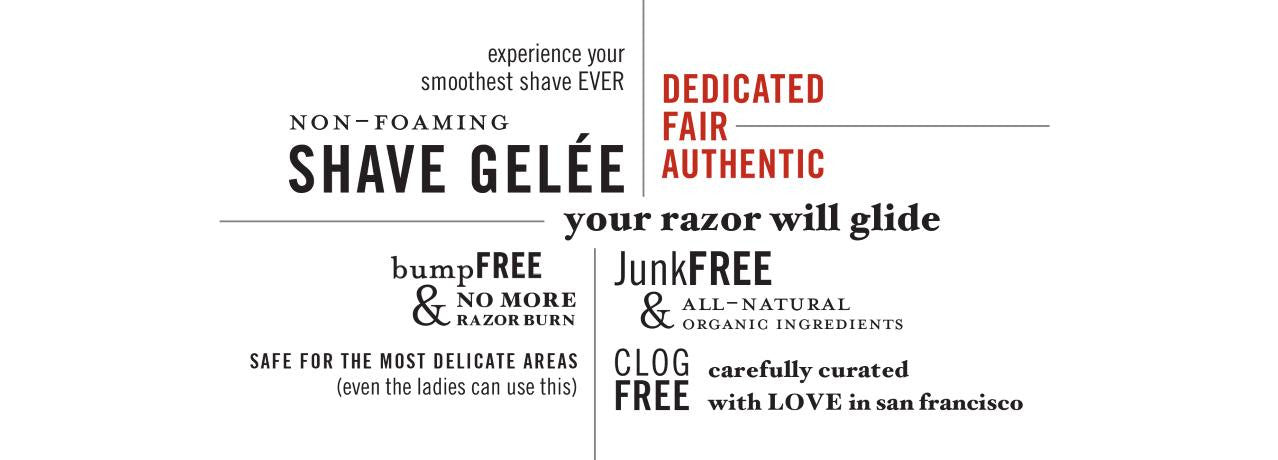 Ziesche Shave Gelée is non-foaming, gentle, all-natural and paraben-free