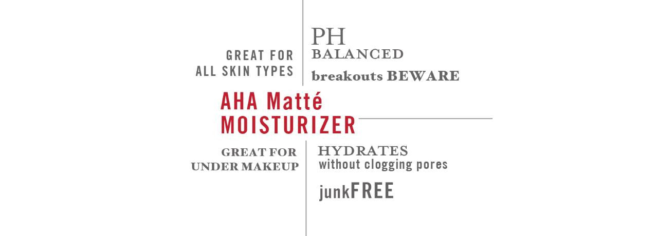 Ziesche AHA Matte Moisturizer is all-natural and paraben free. Non-greasy and great for all skin types.