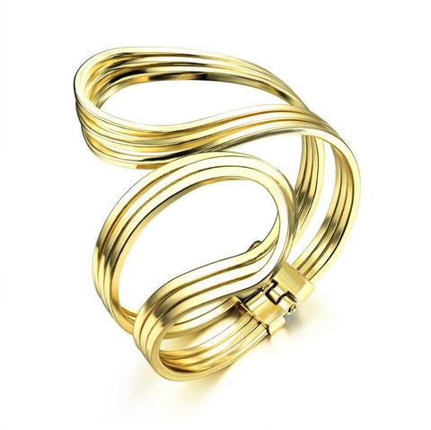 Gold Punk Hip Hop Bangle - Florence Scovel - 1