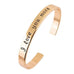 18k Gold Plated - I Love You More Bangle - Florence Scovel - 3