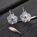 White Flower Hanging Earring