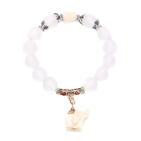 Natural Frosted Elephant Bracelet - Florence Scovel - 1