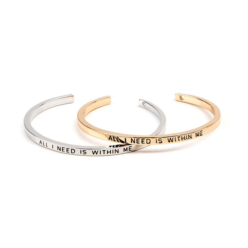 All I Need Is Within Me Cuff Bangle - Florence Scovel - 1