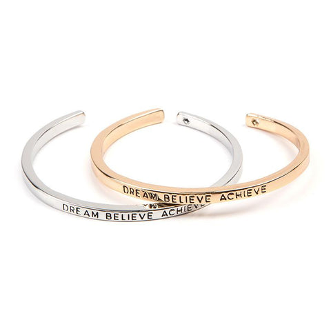 Dream Believe Achieve Cuff Bangle - Florence Scovel - 1