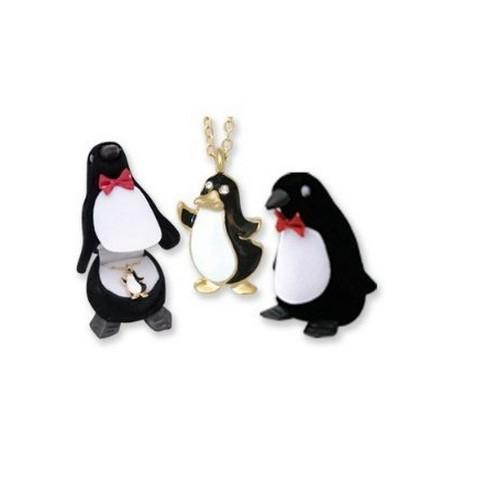 18K Penguin Pendant With Genuine European Crystals - Florence Scovel
