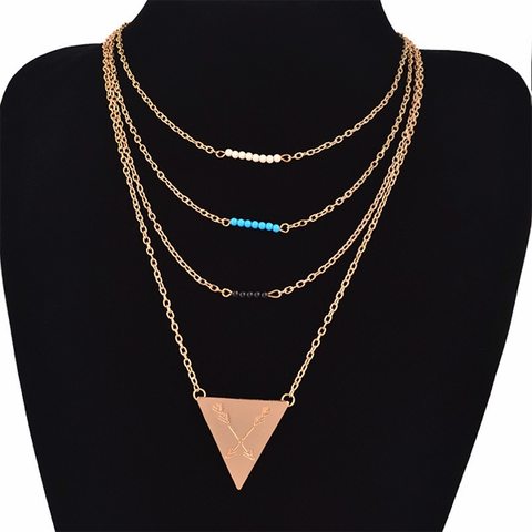 4 Layer Beads Necklace - Florence Scovel - 1