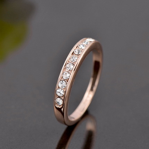 18k Rose Gold Plated Eternity Ring - Florence Scovel - 1