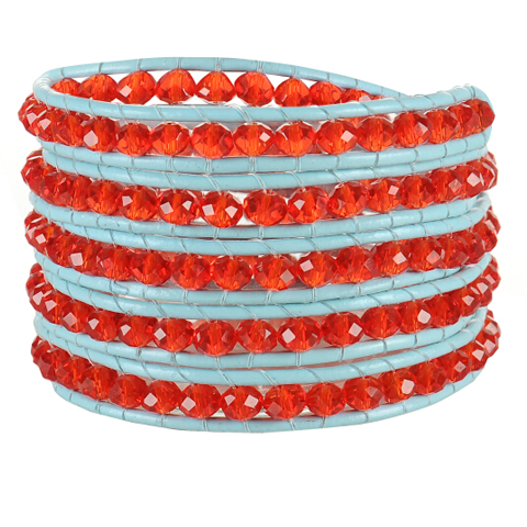 Red Gem Wrap Bracelet - Florence Scovel - 1