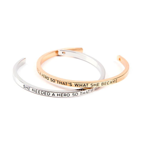 She Needed A Hero Cuff Bangle - Florence Scovel - 1