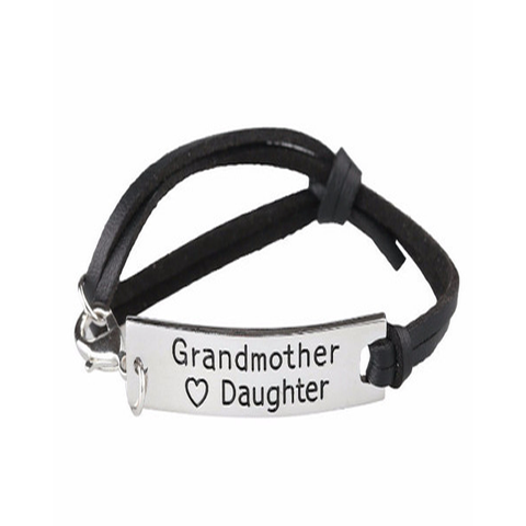 Grandmother Love Daughter Leather Strap Bracelet - Florence Scovel - 1