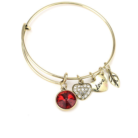 July Birthstone Charm Bangle - Florence Scovel - 1