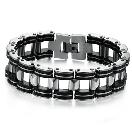 Black Strip Stainless Steel Bracelet - Florence Scovel - 1