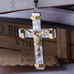 24K Gold Plated Two Tone Cross Pendant - Florence Scovel - 4