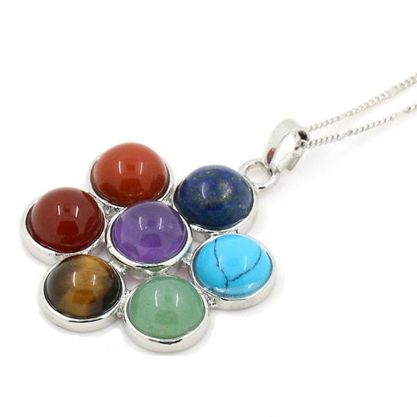 7 Chakra Stones Natural Healing Pendant Necklace