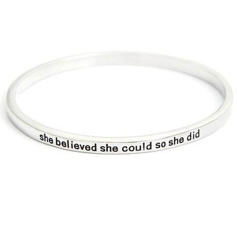 She Believed She Could So She Did Simple Bangle - Florence Scovel - 1