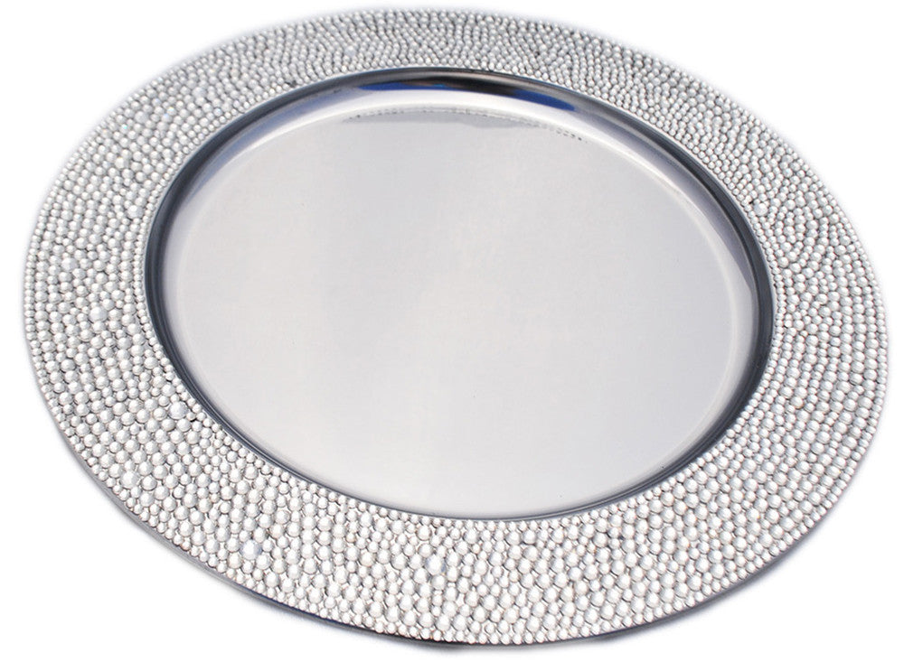 Dazzling Rhinestone Charger Plate