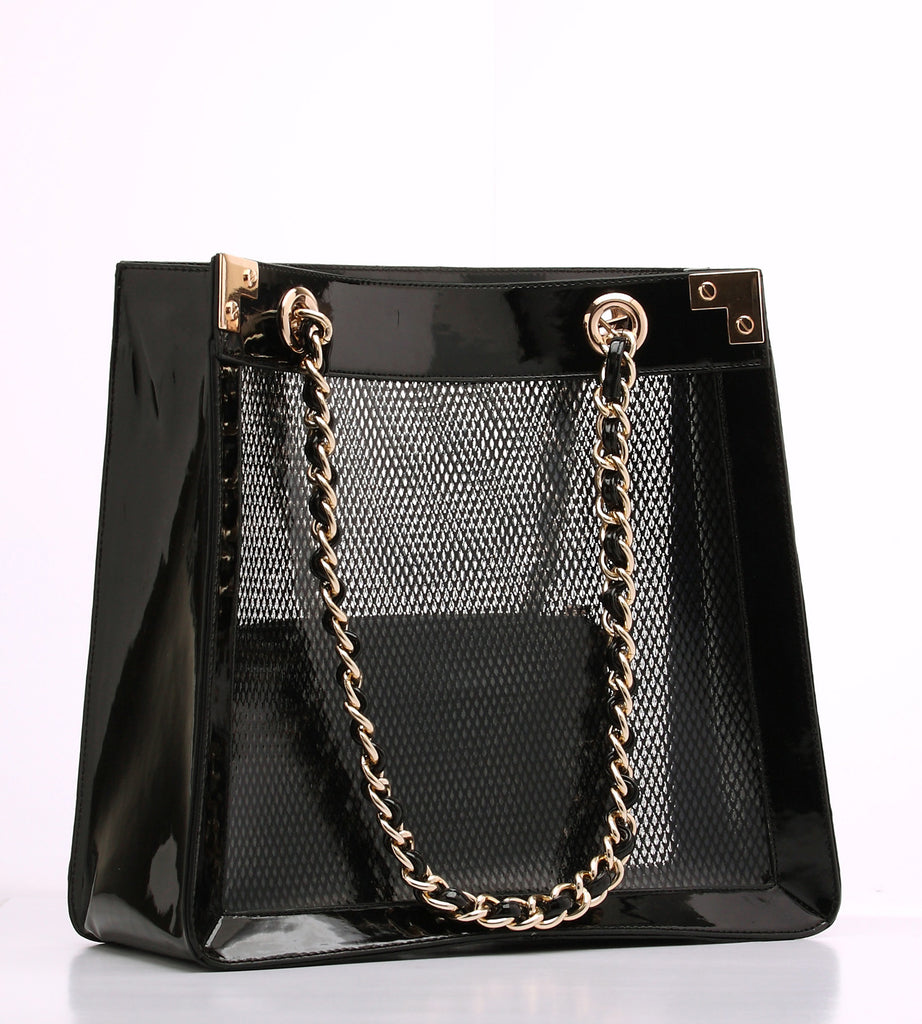 Rebecca Patent Leather Shopper