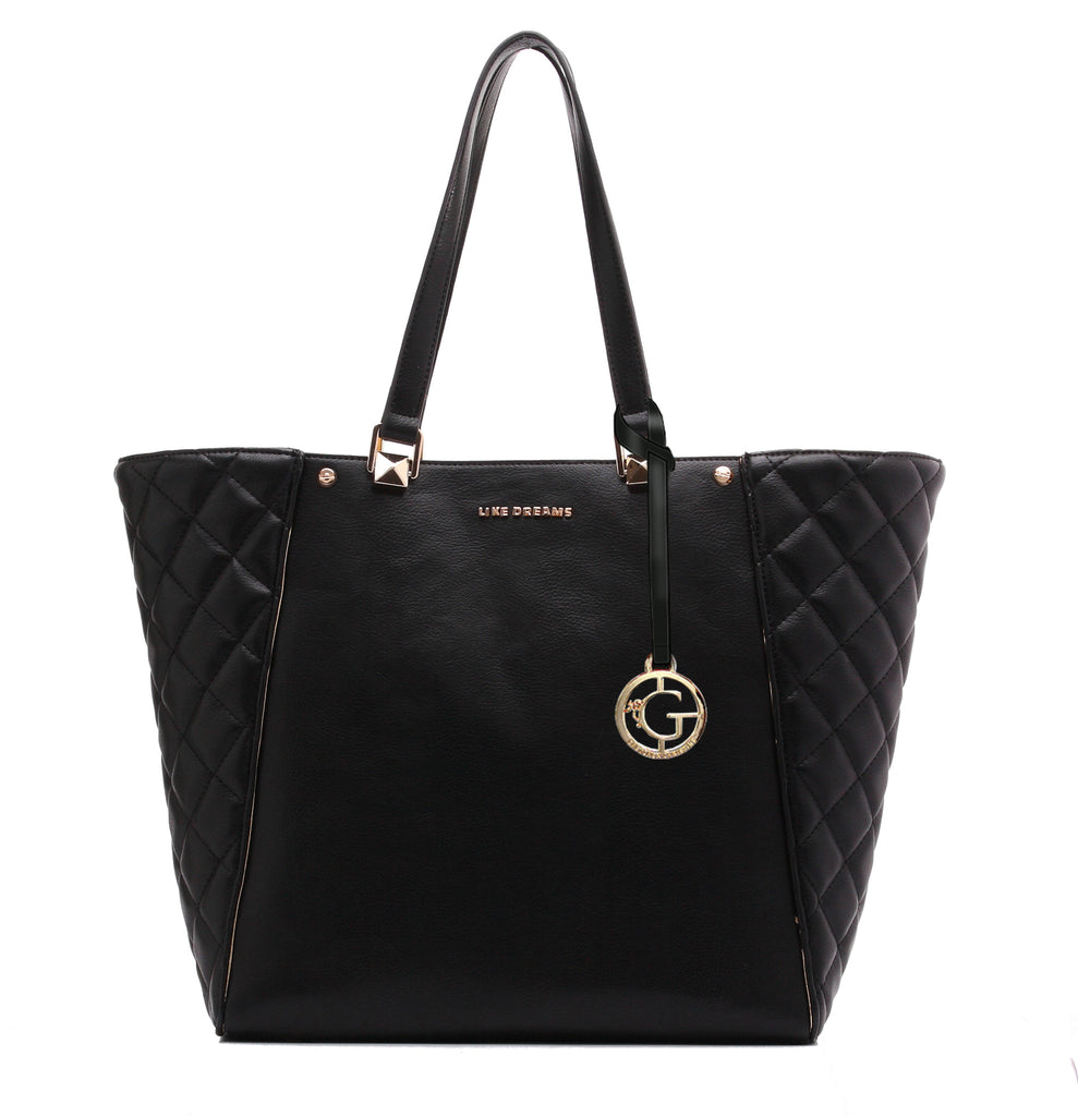QUILTED MYSTIQUE BAG - Black & White
