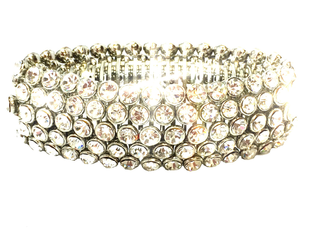 Gorgeous 5 Row Crystal Bracelet