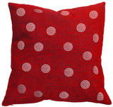 Throw Pillow with Dazzling Rhinestone Bobble Design