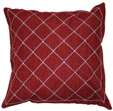 Throw Pillow with Dazzling Rhinestone Criss-Cross Design