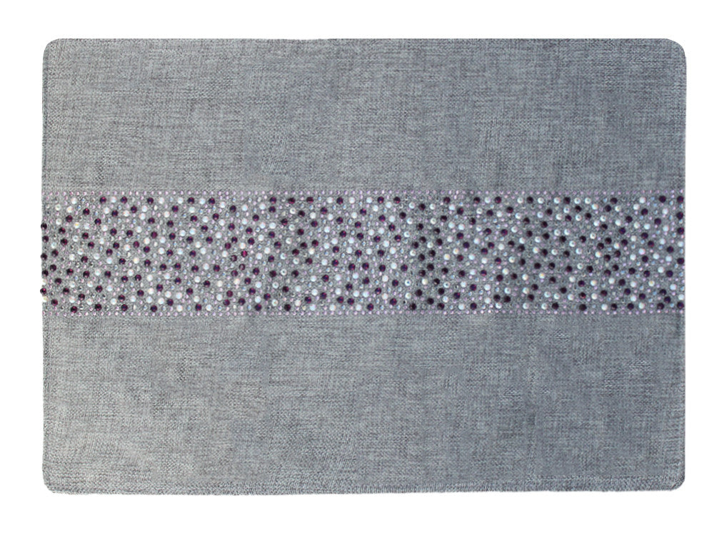 Placemat with Glittering Multi-Colored Amethyst Stripe