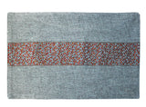 Placemat with Glittering Multi-Colored Cinnamon Stripe