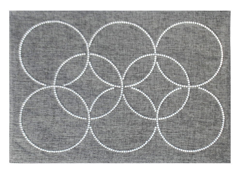 Intertwined Rhinestone Circles Placemat