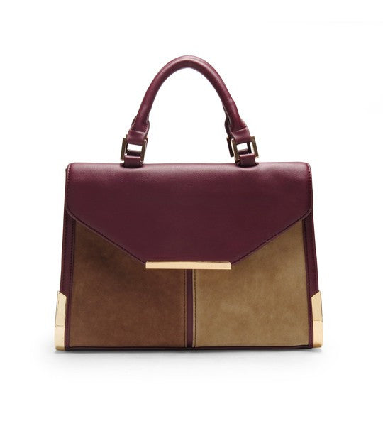 ReeNee Two-Tone Satchel