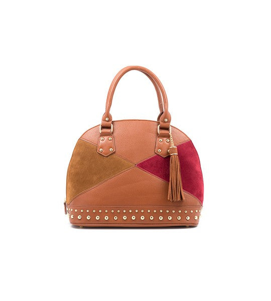 Carly Dome Shaped Satchel by Gretchen Christine