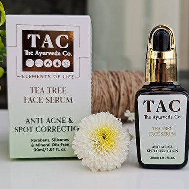 tea tree face serum for anti acne and spot correction