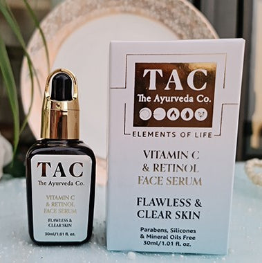vitamin c and retinol face serum for flawless and clear skin