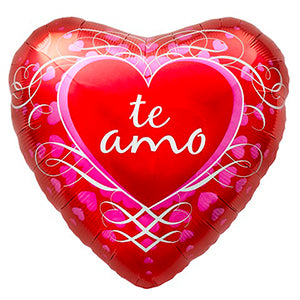 "18"" Te Amo Heart Shaped Foil Balloon #545"