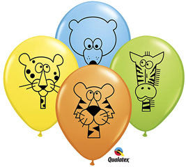 11 inches Jungle Animal Latex Balloons - Nyea's Party Store