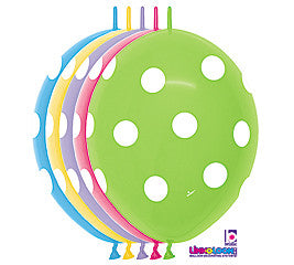 11 inches Polka Dots Assortment Latex Balloons - Nyea's Party Store