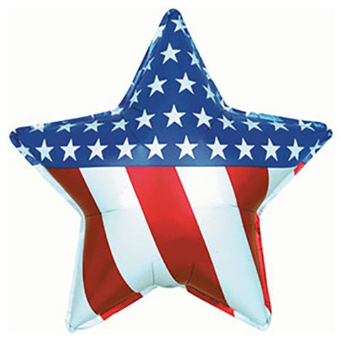 "18"" Patriotic Star Foil Balloon"
