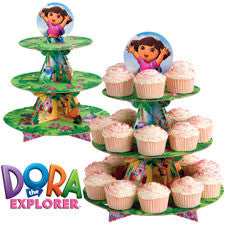 Dora the Explorer Cupcake Stand - nyea's Party Store