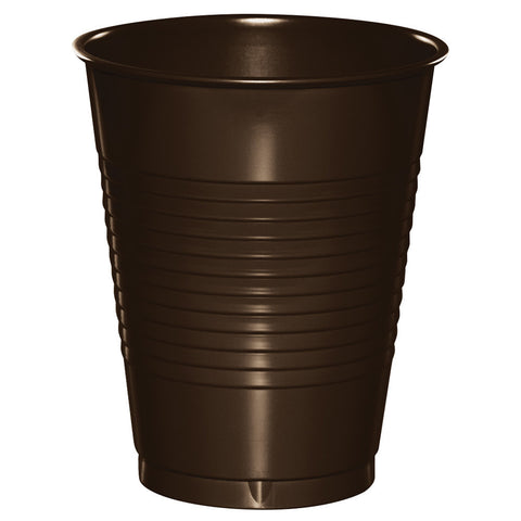 Brown 16 oz Plastic Cups - nyea's Party Store