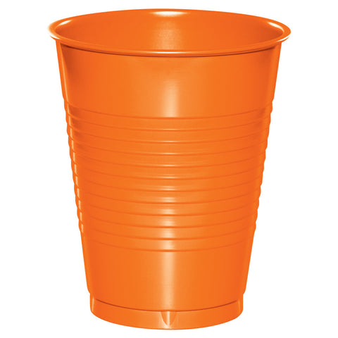 Orange 16 oz Plastic Cups - nyea's Party Store