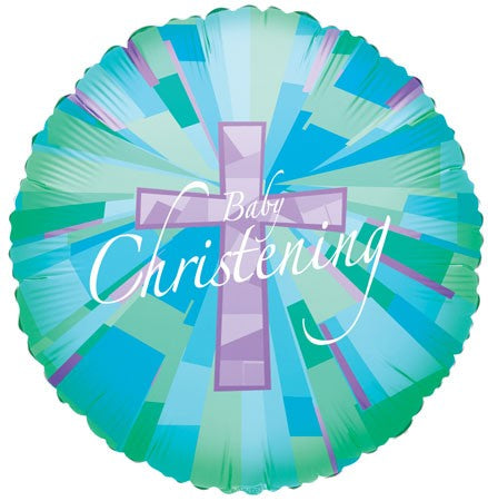 "18"" Baby Christening Foil Balloon"