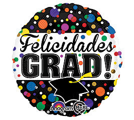 Spanish Felicidades Graduation Foil Balloon Graduation - nyea's Party Store