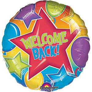 "18"" Festive Welcome Back Mylar Balloon - Nyea's Party Store"