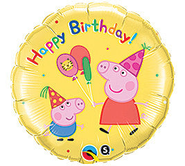 18 inches Peppa Pig Happy Birthday Foil Balloon - Nyea's Party Store