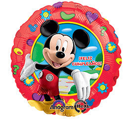 18 inches Mickey Mouse Spanish Birthday Foil Balloon - Nyea's Party Store
