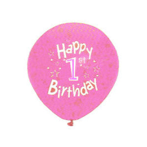 "12"" Round Latex Happy Birthday Balloons"