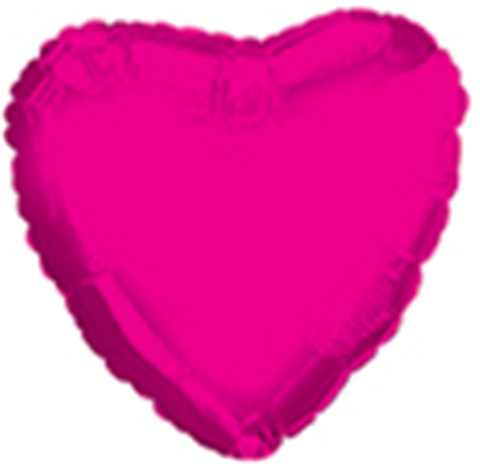 "18"" CTI Hot Pink Heart Foil Balloon"
