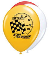 Assorted 12inch Latex  Nascar Balloons - nyea's Party Store