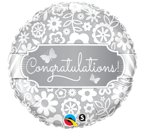 "18"" Congratulations Mylar Balloon - Nyea's Party Store"