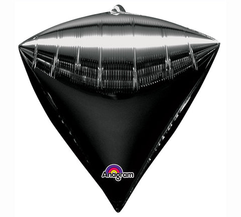 "17"" BLACK DIAMONDZ Foil Balloon"