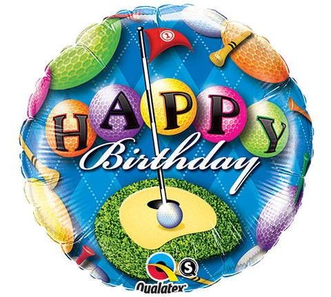 18 Happy Birthday Golf Foil Balloon Nyeas Party Store